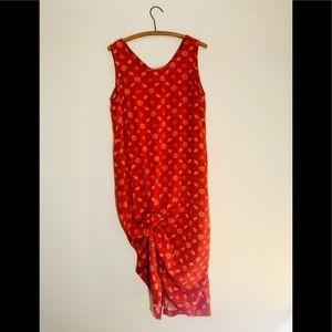 Vintage Retro 90's Cotton Tribal Maxi Dress